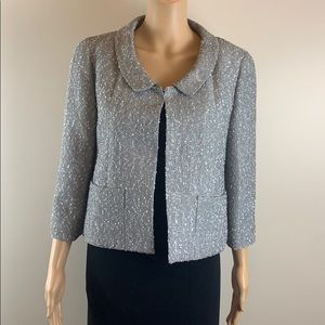 Chanel silver cropped jacket Size 38/US 6